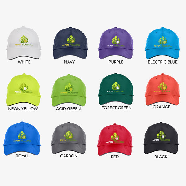 Aspen Pickleball Embroidered Performance Dri-Fit Hat by Pickleball Xtra