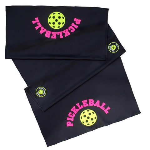 Black Pickleball Cooling Towel - Athletic towel