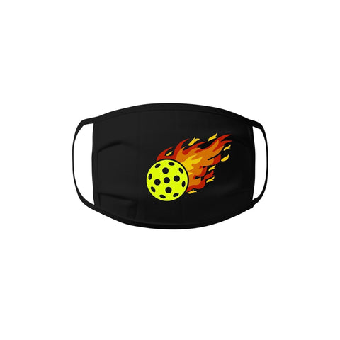 Face Mask - Pickleball Flame 100% cotton Jersey Face Mask - Unisex Face Mask - Non Surgical