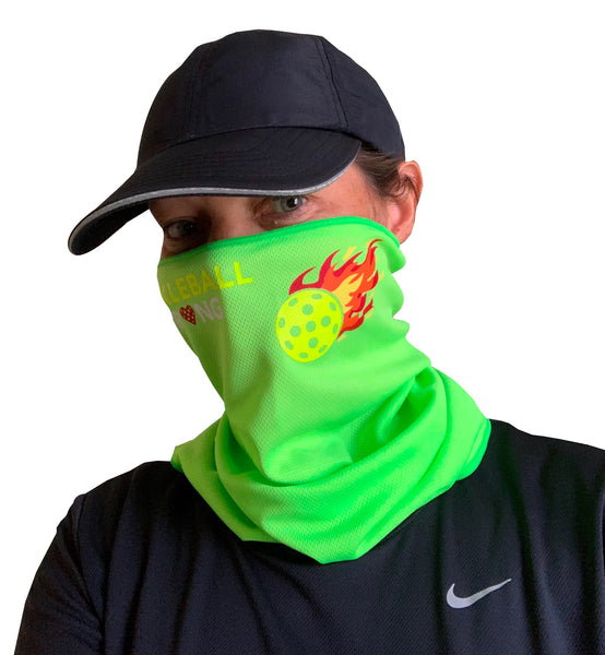 Pickleball Flame Full Face Mask - Neck Gaiter - Cooling Towel
