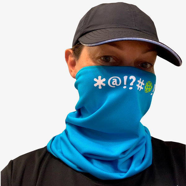 Pickleball Bleep Bleep! Full Face Mask - Neck Gaiter - Cooling Towel