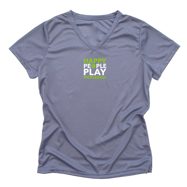 Happy People Play Pickleball Ladies T-Shirt - Performance Dri-Fit