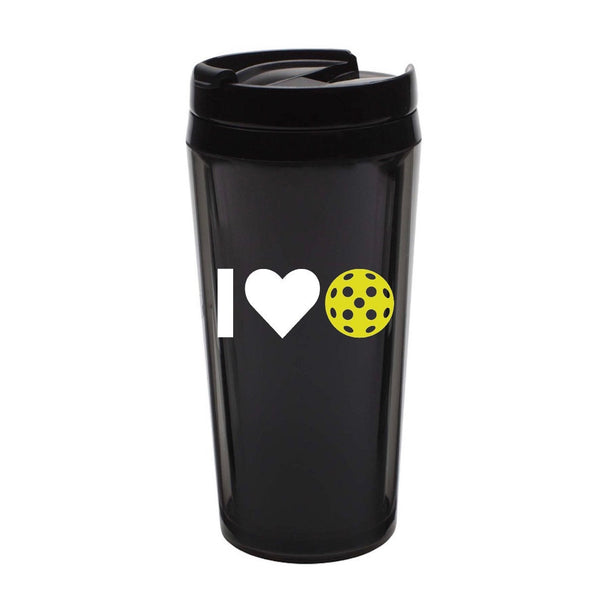 I Heart Pickleball Decal for your Yeti/Camelbak Water Bottle - Water Bottle Pickleball Decal