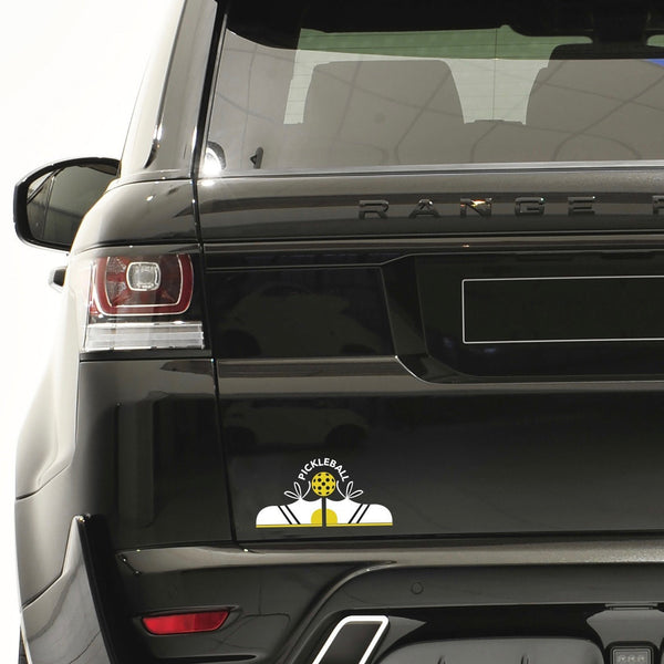 Sneakers & Pickleball Decal - Bumper Sticker