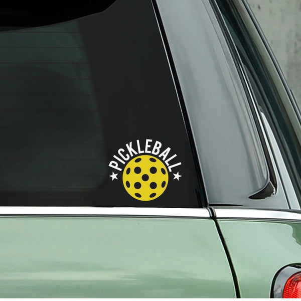 Pickleball Star Decal-Bumper Sticker