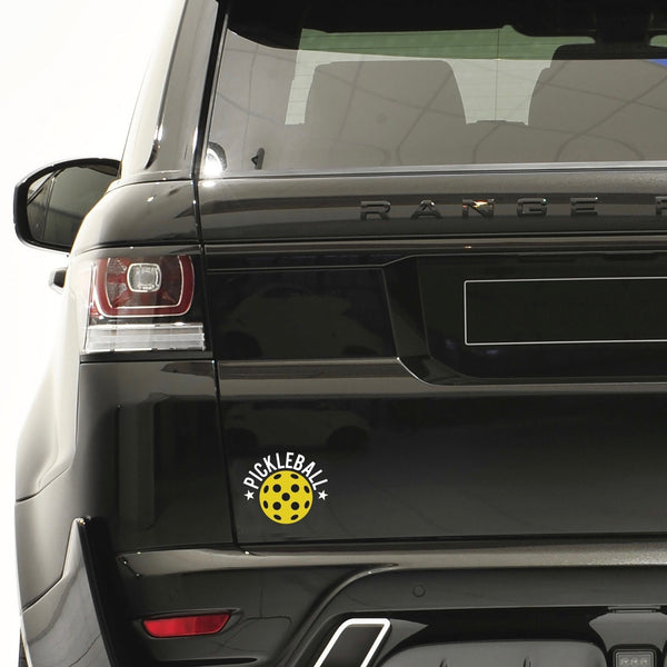 Pickleball Star Decal - Bumper Sticker -