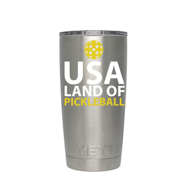 USA Land of Pickleball Decal for your Water Bottle / Yeti