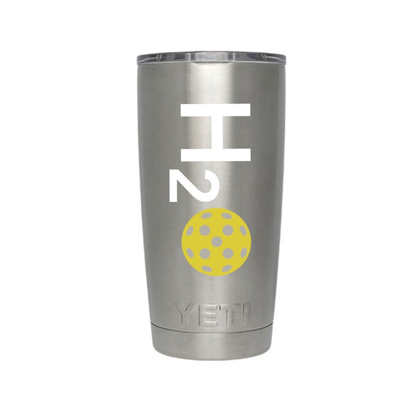 H2O Pickleball Decal for your Yeti/Camelbak Water Bottle - Water Bottle Pickleball Decal