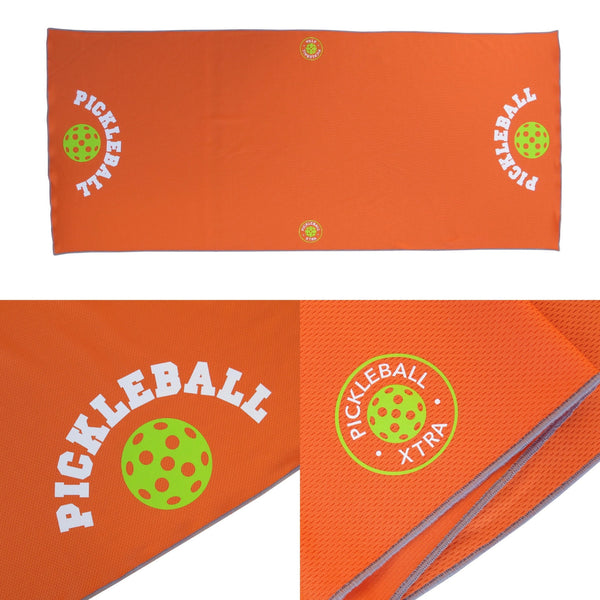 Orange Pickleball Cooling Towel - Athletic towel