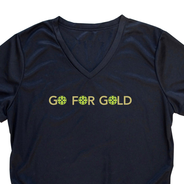 Go For Gold Ladies Pickleball T-Shirt - Performance Dri-Fit