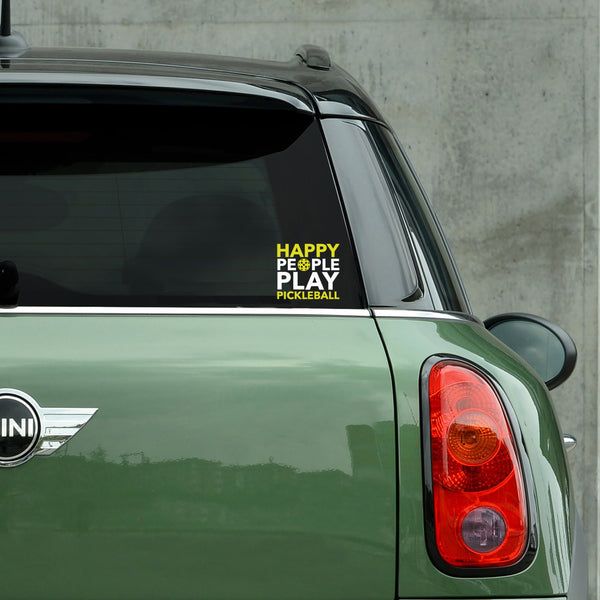 Happy People Play Pickleball Decal - Bumper Sticker