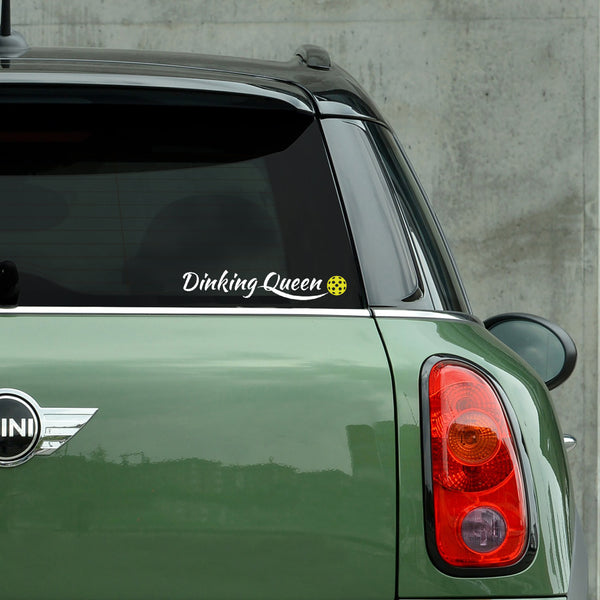 Dinking Queen Pickleball Decal - Bumper Sticker