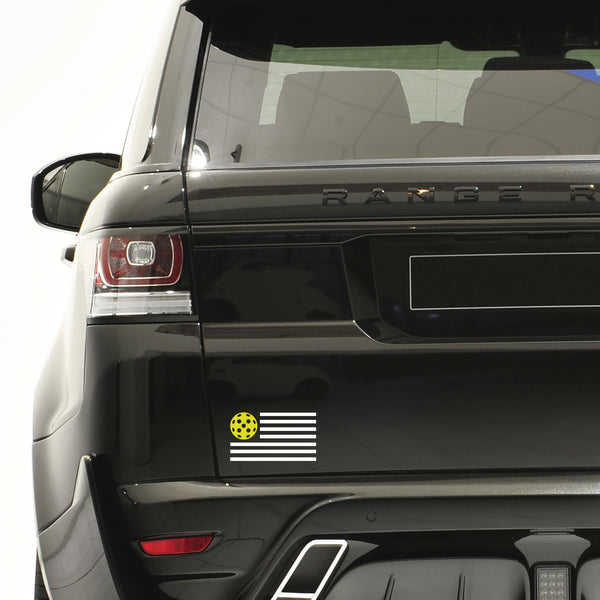 American Flag Pickleball Decal - Bumper Sticker