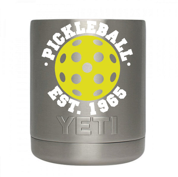 Pickleball Est. 1965 Decal for your Yeti/Camelbak Water Bottle - Water Bottle Pickleball Decal