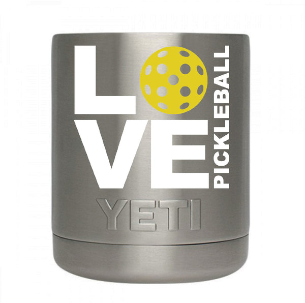LOVE Pickleball Decal for your Yeti / Camelbak Water Bottle - Water Bottle Pickleball Decal