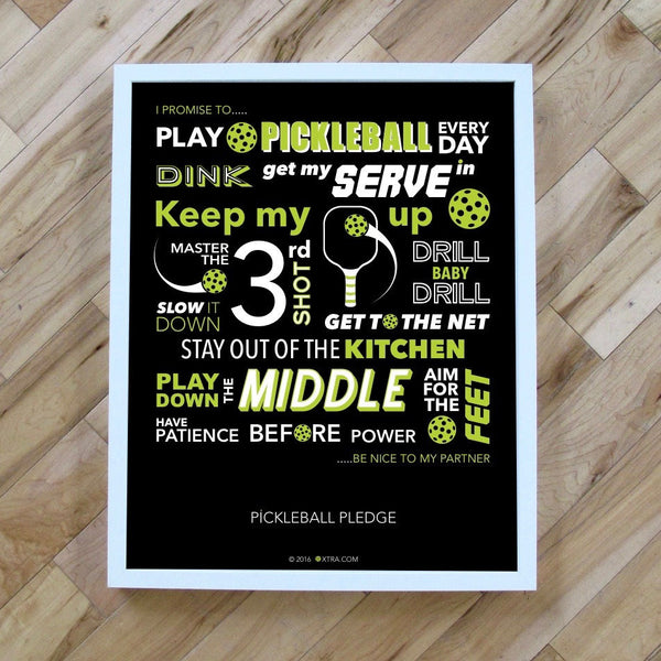 Pickleball Pledge Art Print - Pickleball Poster