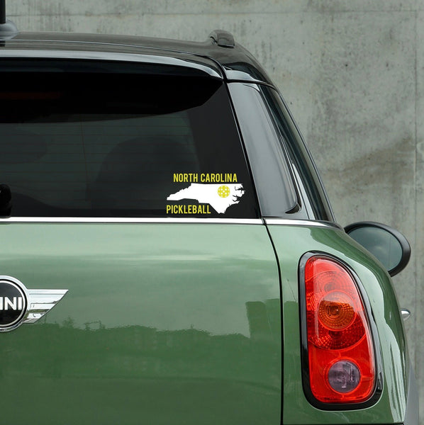 North Carolina Pickleball Decal - Bumper Sticker