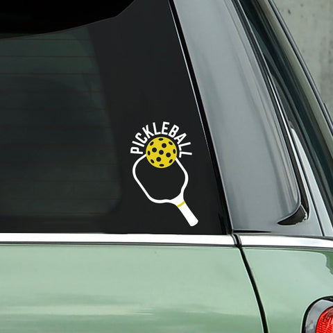 Pickleball Paddle Decal - Bumper Sticker