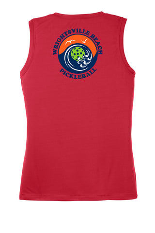 Wrightsville Beach Pickleball Ladies Performance Tank - Back Logo