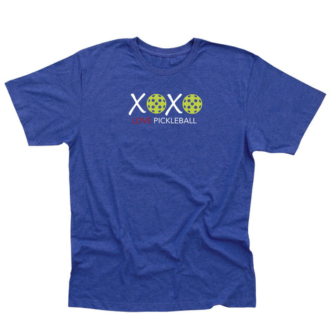 Valentine XOXO LOVE Pickleball Men's T-Shirt - Vintage Casual Cotton Blend