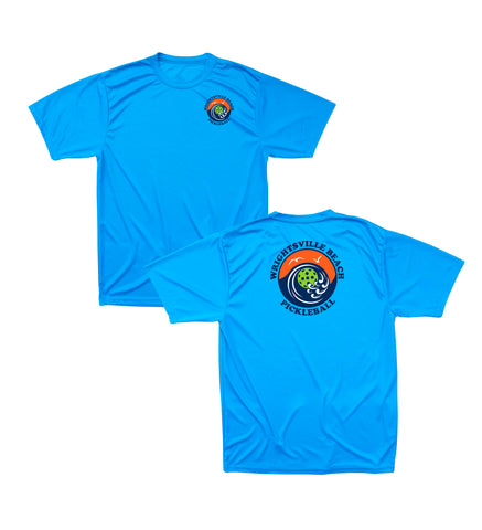 Wrightsville Beach Pickleball Men's Performance T-Shirt - Front Chest AND Back Logo