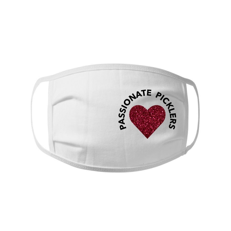 Passionate Picklers Face Mask -  100% cotton Jersey Face Mask - Unisex Face Mask - Non Surgical