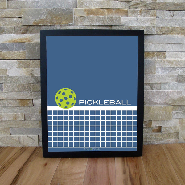 Pickleball Net Art Print - The Love Pickleball Poster