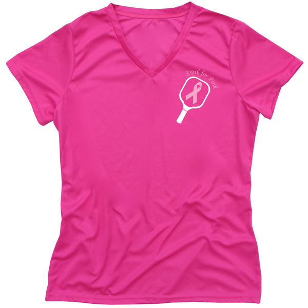 Dink for Pink Pickleball Ladies T-Shirt - Charity Breast Cancer T-shirt
