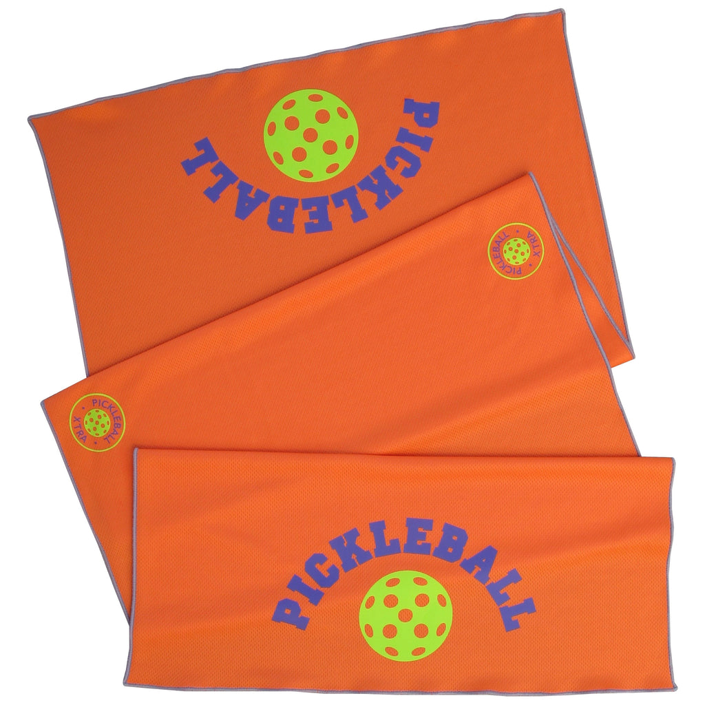 Pickleball Cooling Towel - Stay Cool Towel -Athletic towel - Pickleball Towel - Orange Towel