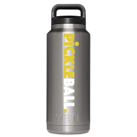 Classic Pickleball Decal for your Yeti / Camelbak Water Bottle - Water Bottle Pickleball Decal