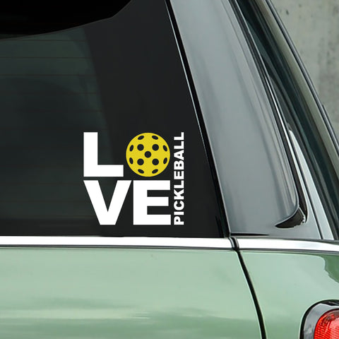 LOVE Pickleball Decal - Bumper Sticker