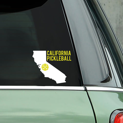 California Pickleball Decal - Bumper Sticker