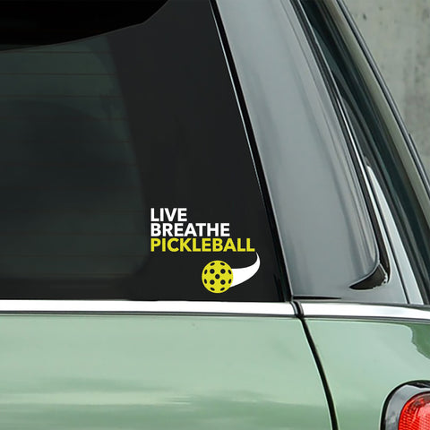 Live Breathe Pickleball Decal - Bumper Sticker