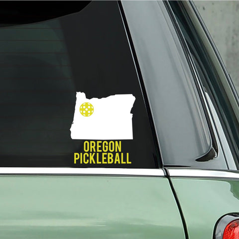 Oregon Pickleball Decal - Bumper Sticker