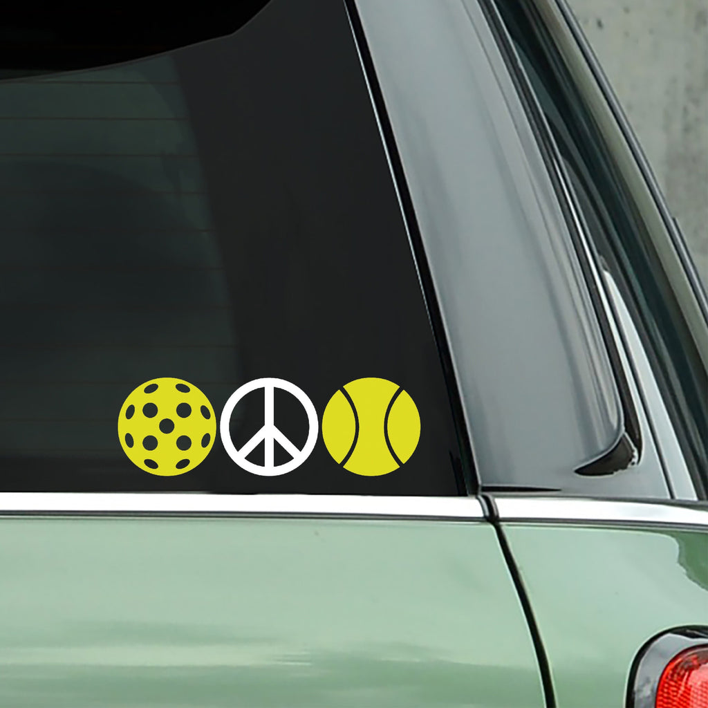 Peace Pickleball Decal - Bumper Sticker