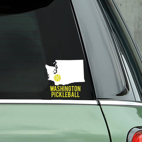 Washington Pickleball Decal - Bumper Sticker -