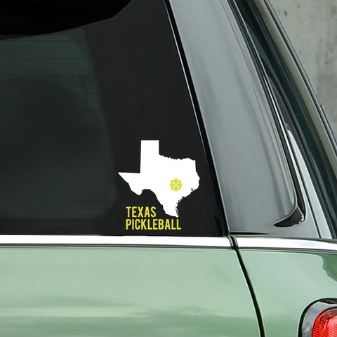 Texas Pickleball Decal - Bumper Sticker