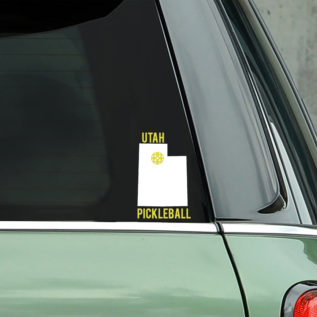 Utah Pickleball Decal - Bumper Sticker