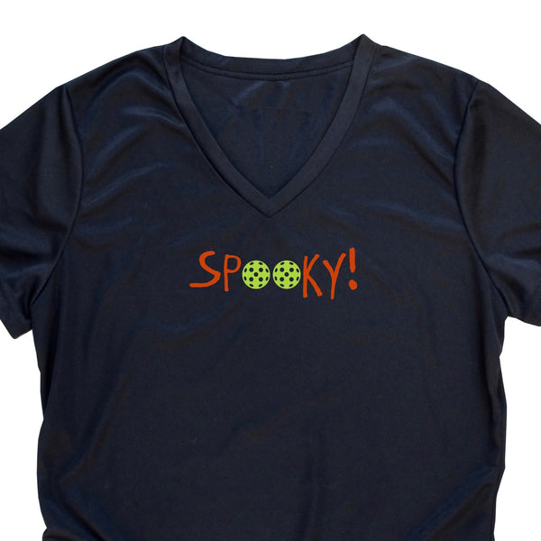 Spooky! Pickleball Halloween Ladies T-Shirt - Performance Dri-Fit