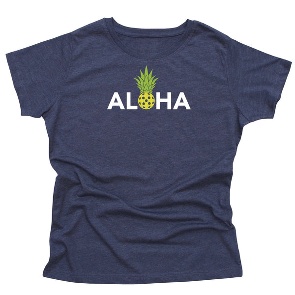 Aloha Pickleball Ladies T-Shirt - Vintage Casual Cotton Blend