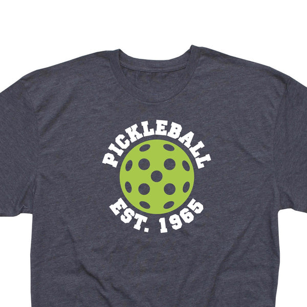 Retro Men's Pickleball Est. 1965. T-Shirt - Vintage Casual Cotton Blend