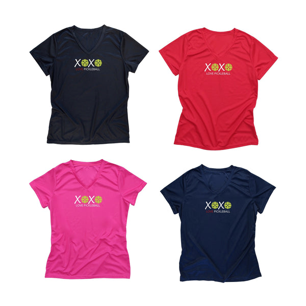 Valentine Pickleball XOXO LOVE Ladies T-Shirt - Performance Dri-Fit