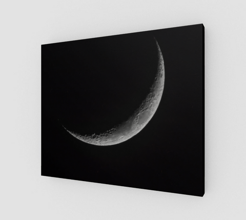 "Crescent Moon Canvas Print (24"" x 20"")"
