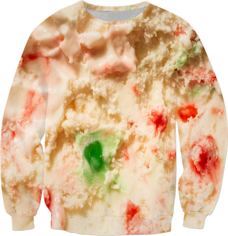 Ugly Holiday Winter Peppermint Ice Cream Sweatshirt