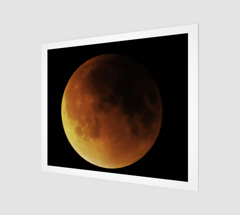 "Blood Moon Eclipse Art Print (24"" x 20)"