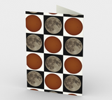 Checkers Moon & Sun Stationery Card (set of 3 / envelopes included)