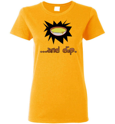 Chips & Dip (Couples Ladies Short-sleeve T-shirt)