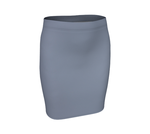 Gray Sky Fitted Skirt