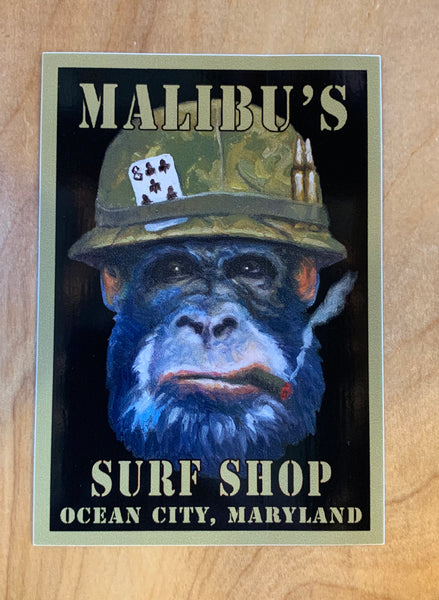 Army Monkey Sticker