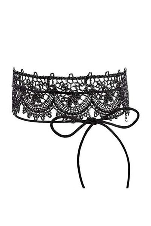 Lace Scalloped Single Choker